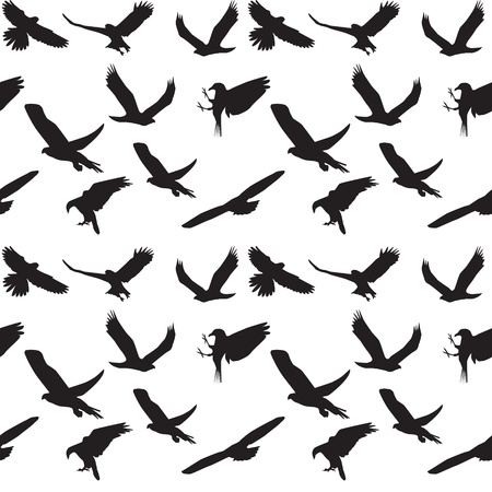 Eagle symbol set seamless pattern  illustration   Stock Vector - 16116396