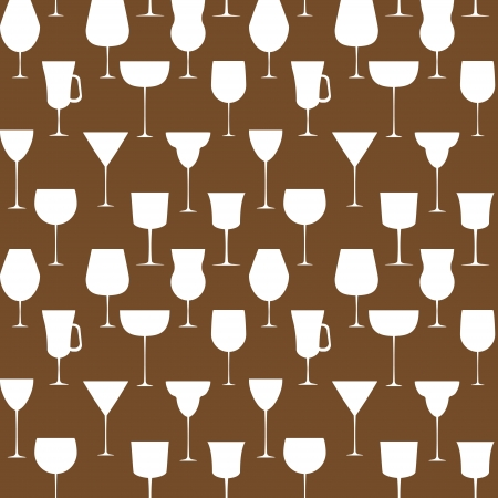 Alcoholic glass seamless pattern  illustration