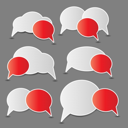 Speech bubbles illustration Stock Vector - 16190762