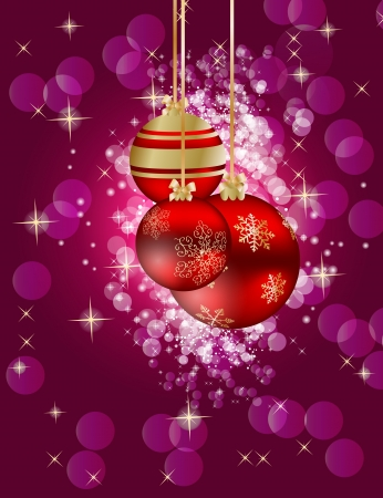 Abstract beauty Christmas and New Year background illust