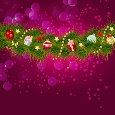 illust: Abstract beauty Christmas and New Year background  illust