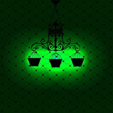 Vintage background with chandelier illustration Stock Vector - 16190768
