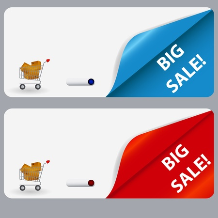 Sale banner with place for your text  illustration Stock Vector - 16216830