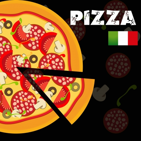 Pizza Menu Template, illustration Vector
