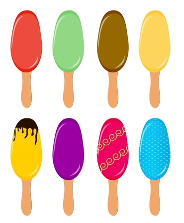 Colorful popsicles vector illustration Stock Vector - 16587524