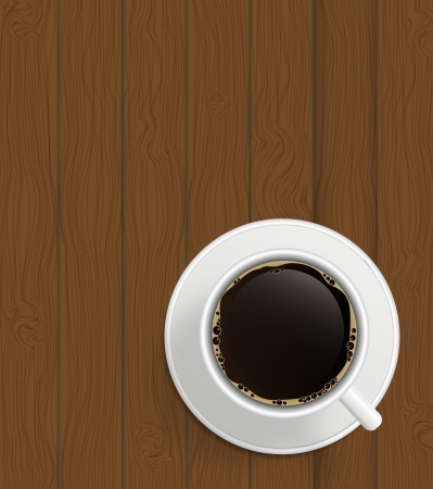 stimulant: Cup of cofee on  boards Background