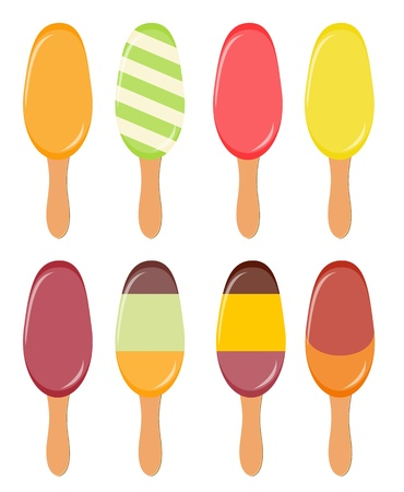 Colorful popsicles Stock Vector - 16629839