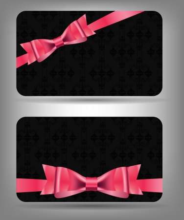 Card with bow and ribbon  Vector illustration Stock Vector - 16852907