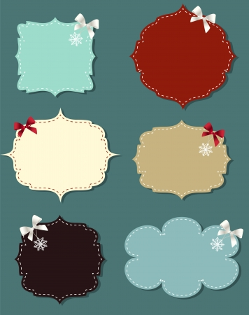 sewing buttons: set of different speech bubbles,  design elements
