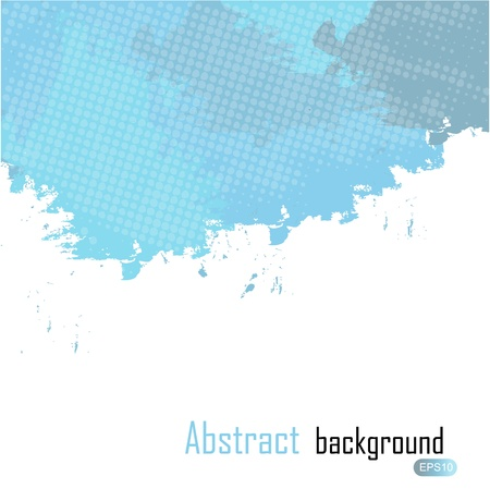 Blue abstract paint splashes illustration  Vector background wit Stock Vector - 16911986