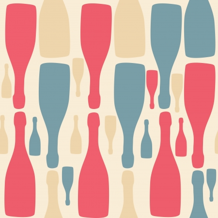 Vector background with bottles  Good for restaurant or bar menu Vector