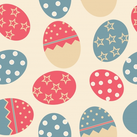 Vector Easter Seamless pattern with eggs background Stock Vector - 16911953