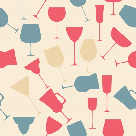 Seamless background pattern of black alcoholic glass Stock Vector - 16911952