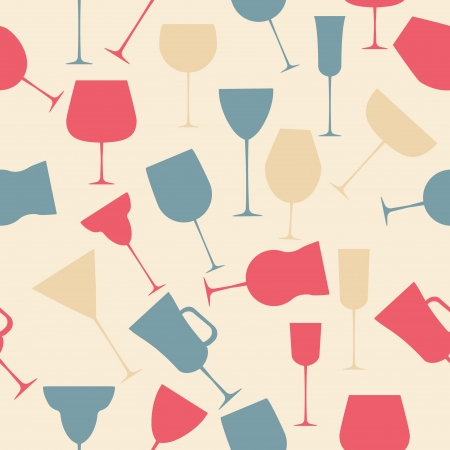 Seamless background pattern of retro alcoholic glass Stock Vector - 16911951