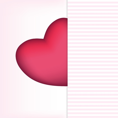 Valentines day card, vector illustration Stock Vector - 17064637