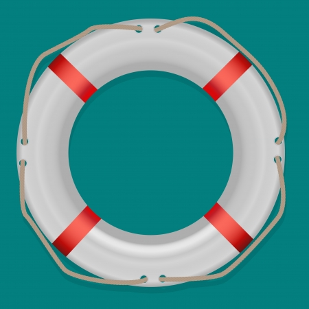 Life Buoy, Isolated On White Background, Vector Illustration Stock Vector - 17064654