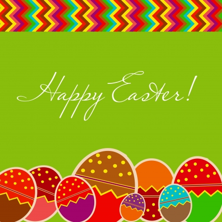 Easter eggs card with colourful eggs  vector illustration Vector