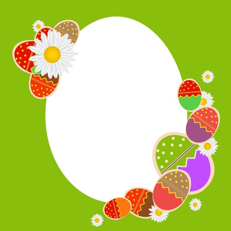 Easter eggs card with colourful eggs  vector illustration Stock Vector - 17064697