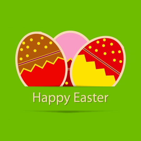 Easter eggs card with colourful eggs  vector illustration Stock Vector - 17064684
