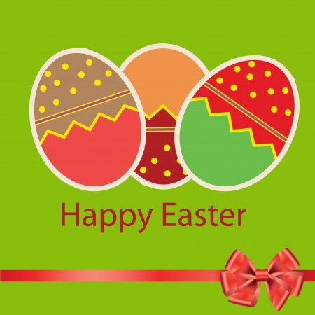 Easter eggs card with colourful eggs  vector illustration Stock Vector - 17064670