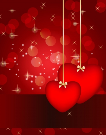 Valentines day card, vector illustration Stock Vector - 17064671