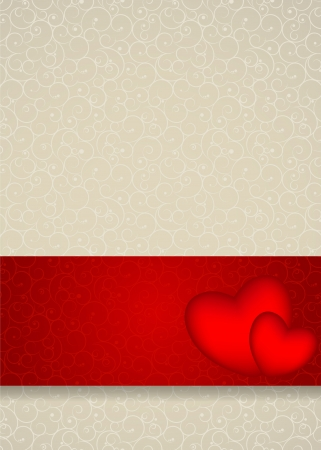 Valentines day card, vector illustration Stock Vector - 17064698