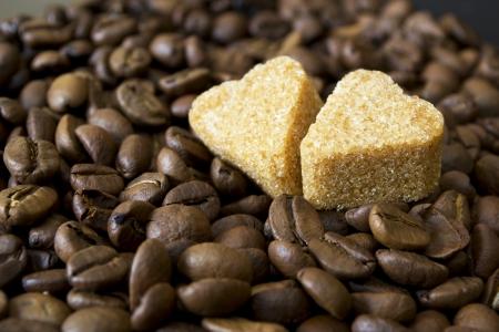 coffee beans, cup, Pots, cinnamon on dark background Stock Photo - 16942565