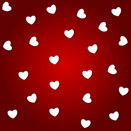 Valentines day paper heart backgroung, vector illustration Stock Vector - 17059289