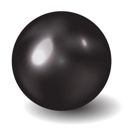 cue ball: Pearl vector illustration Illustration