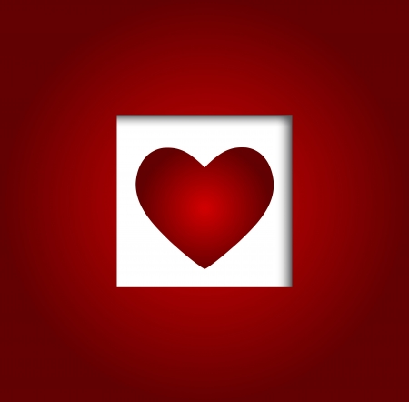 Valentines day heart backgroung, vector illustration Vector