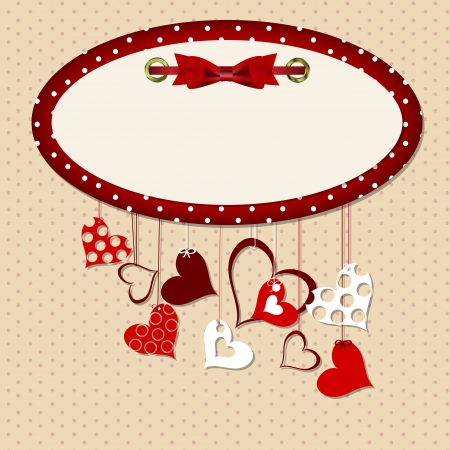 couple lit: Valentines day heart backgroung, vector illustration