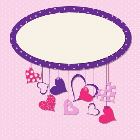 Valentines day heart backgroung, vector illustration Stock Vector - 17081942
