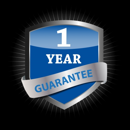Guarantee label shield  illustration Stock Vector - 17151680