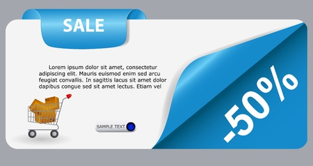 Sale banner with place for your text  vector illustration Stock Vector - 17251007