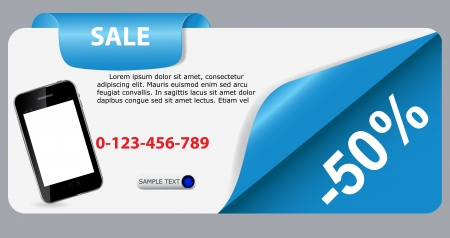 Sale banner with place for your text  vector illustration Stock Vector - 17257117