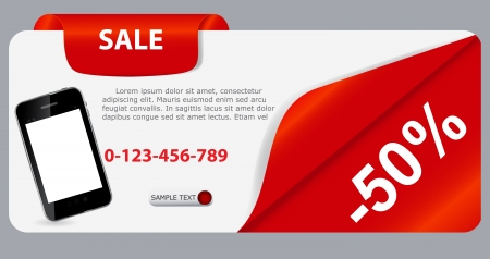 Sale banner with place for your text  vector illustration Stock Vector - 17250961