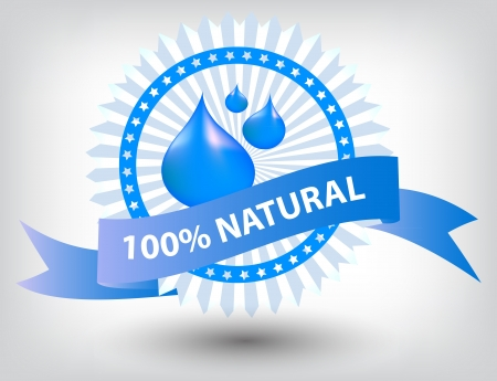 Vector natural blue label illustration Vector
