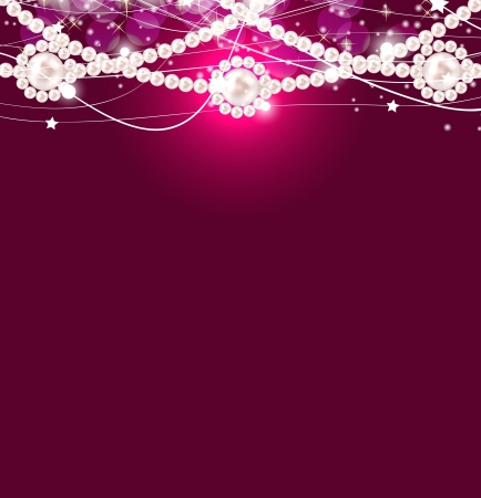 Beauty pearl background vector illustration Vector