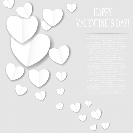Valentines day paper heart backgroung, vector illustration Stock Vector - 17215888