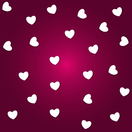 Valentines day paper heart backgroung, vector illustration Stock Vector - 17215882