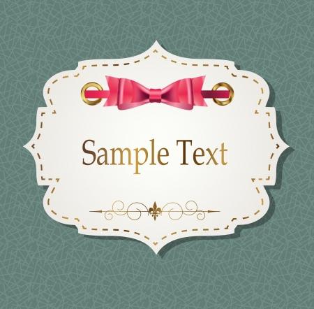 gift card met linten, elementen illustratie ontwerp Stock Illustratie