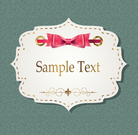 gift card with ribbons, design elements illustration Vector