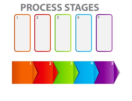 concept of business process improvements chart Stock Vector - 17284452