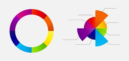 Concept of colorful circular banners with arrows for different b Stock Photo - 17284455
