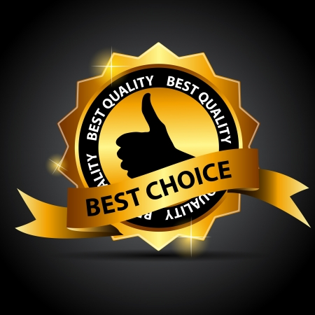 best choice: Vector best choice  label with red ribbon