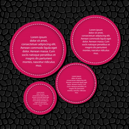 Circle banner vector illustration background Stock Vector - 17337191