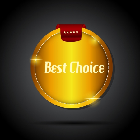 best choice  label with red ribbon Stock Vector - 17361208