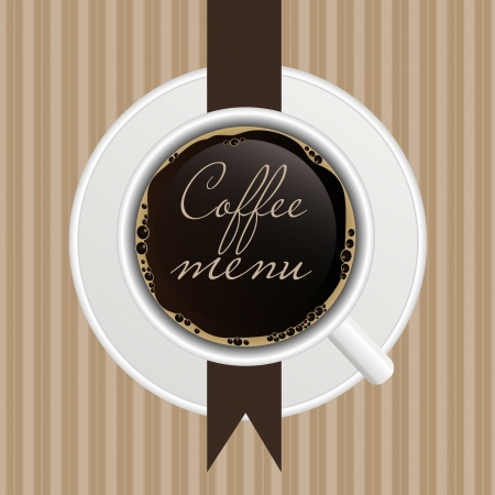 The concept of coffeehouse menu  Stock Illustratie