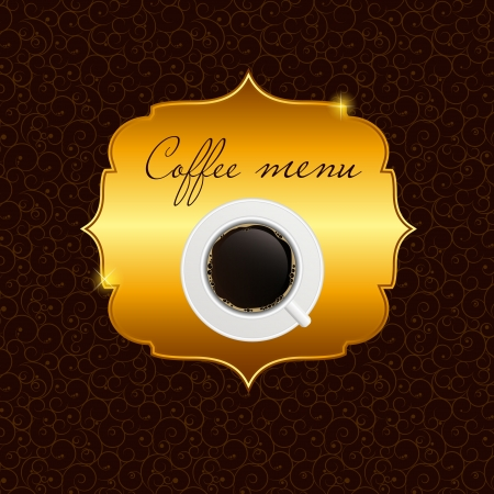 coffeehouse: The concept of coffeehouse menu  Illustration