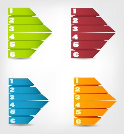 Concept of colorful origami for different business design  Vecto Stock Vector - 17405539
